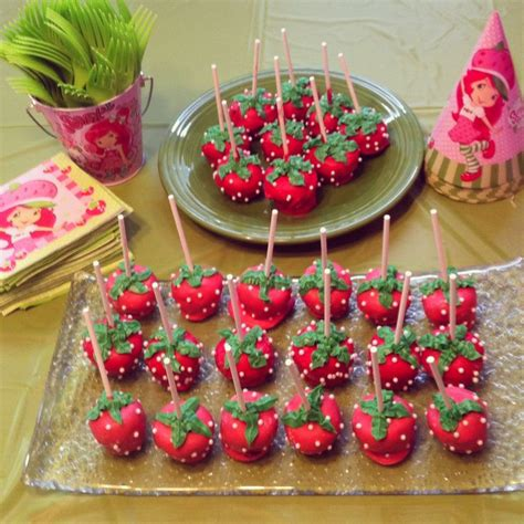 ideas for strawberries strawberry shortcake cake pops cake pops pinterest cakes strawberry shortcake cakes and