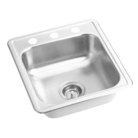 proflo kitchen sinks proflo pfsr171963 stainless steel 17 quot single bowl 1672