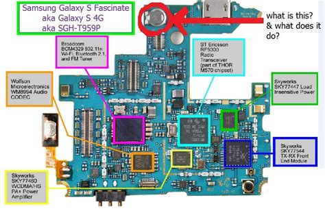detailed diagram of samsung galaxy s 4g sgh t959p mainboard samsung sgh t959 support