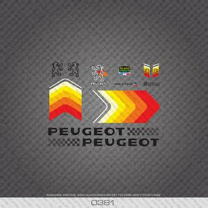 Peugeot Bike Decals by 0381 Peugeot Bicycle Frame Stickers Decals Transfers