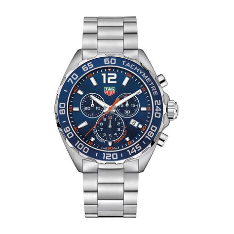 tag heuer watches tag heuer formula 1 chronograph men 39 s blue dial stainless
