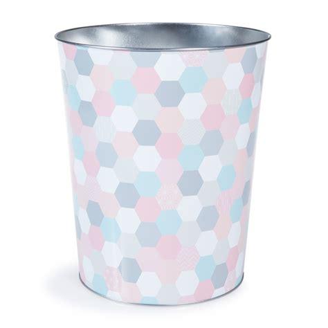 idée déco pour chambre bébé fille corbeille à papier en métal multicolore h 26 cm zoé