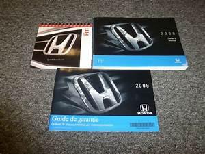 2009 Honda Fit Hatchback Owner Manual User Guide Set Sport