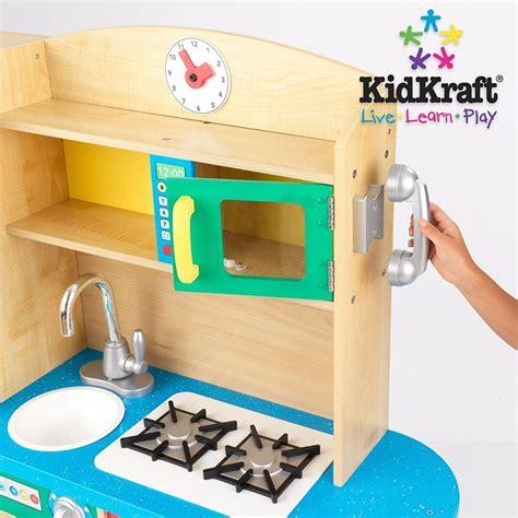 cozinha infantil madeira natural kidkraft cook
