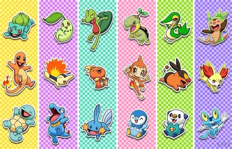 Starter Pokemon (gen 1-6)