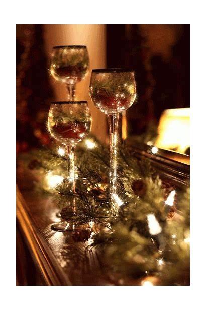 Christmas Merry Candles Elegant Gold Animated Orange