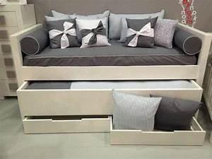 Lit Double Avec Tiroir : le lit gigogne un peu plus qu 39 un simple lit ~ Teatrodelosmanantiales.com Idées de Décoration