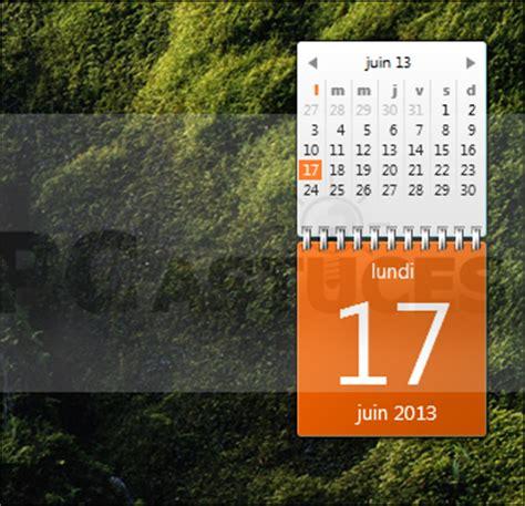 gadget de bureau gratuit afficher un calendrier complet sur le bureau windows 7