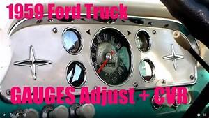 1959 Ford F100 Truck Instrument Cluster Cvr Repair Gauges