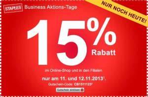 Gutschein T Online Shop : staples de nur noch heute 15 gutschein auf den einkauf ~ A.2002-acura-tl-radio.info Haus und Dekorationen