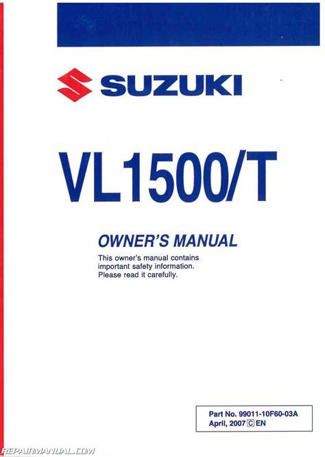 suzuki vl boulevard  ct motorcycle owners manual