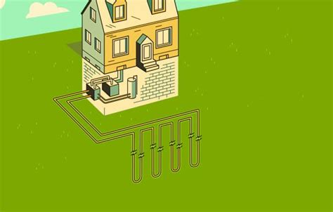 geothermal heat pump   works   house