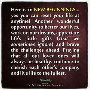 Happy New Beginning Quotes