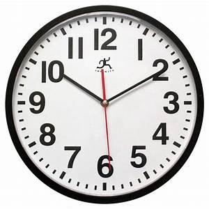 Pure, Office, 13, U0026quot, Round, Wall, Clock, Black