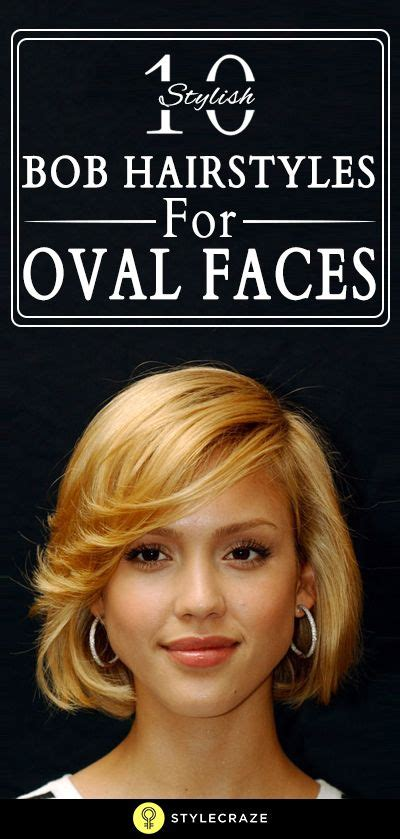 10 Stylish Bob Hairstyles For Oval Faces Oval face