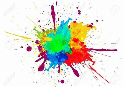 Paint Colorful Splotch Splatter Splatters Splash Painting
