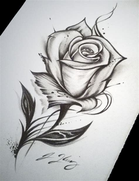 rose tattoo drawing tattoo   tattoo drawings