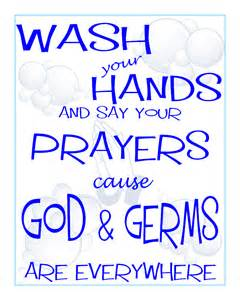 Free Printable Wash Your Hands and Say