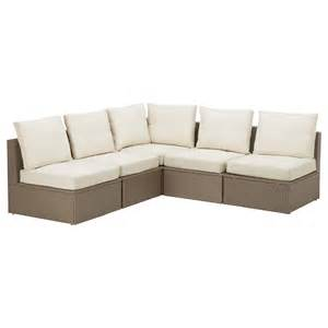 sofa outdoor arholma corner sofa 3 2 outdoor brown beige 206 206x76x66 cm ikea