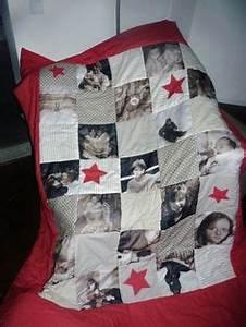 Patchworkdecke Mit Eigenen Fotos : foto quilt mit familienfotos detailaufnahme n hen patchworkdecke geschenke selber basteln ~ Buech-reservation.com Haus und Dekorationen