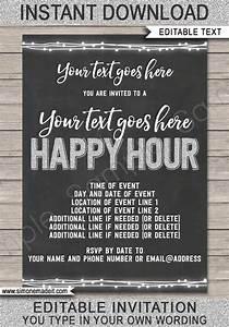 Appreciation Party Invitation Wording Happy Hour Invite Template Printable Happy Hour Invitation