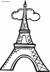 Eiffel Tower Coloring Drawing Pages Paris Cartoon Easy Towers Torre Draw Simple Clip Outline Step Para Clipart Colorear Dibujo France sketch template