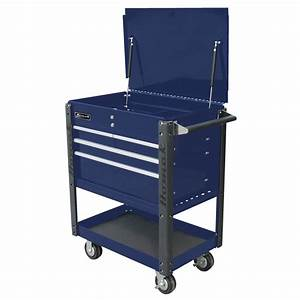 35 U0026quot  Pro Series Four Drawer Flip Top Service Cart