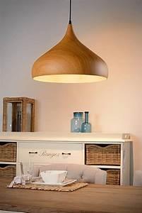 Lustre Bois Design : lustre design couleur bois 42cm diam tre e27 myplanetled ~ Teatrodelosmanantiales.com Idées de Décoration