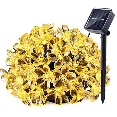 solar xmas lights for sale qedertek solar string lights 21ft 50 led fairy flower