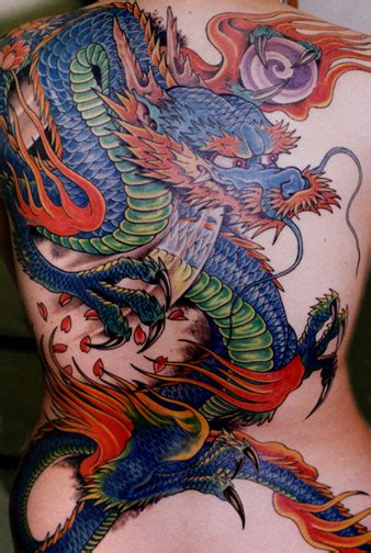 brainsy heart amazing color dragon tattoo