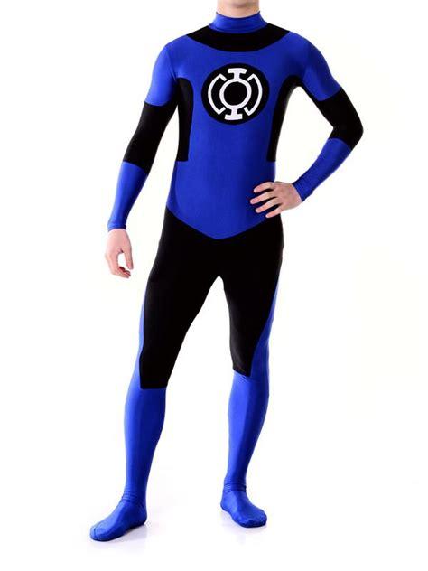 Custom Navy Blue Lantern Crops Custom Superhero Costume