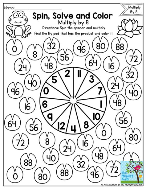 Spin, Solve And Color Such A Fun Way To Practice Multiplication Facts!  Ma Kertolasku