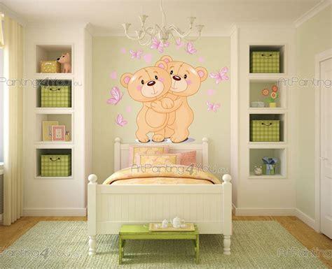 Wandtattoo Kinderzimmer Bärchen by Wandtattoo Kinderzimmer B 228 Ren Artpainting4you Eu