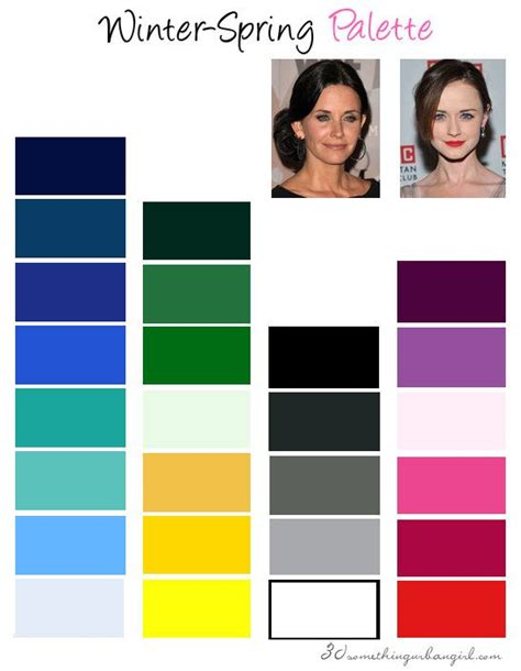 Palette Green All Seasons are you a winter clear winter clear winter