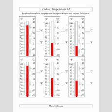 Reading Temperatures From Thermometers (a