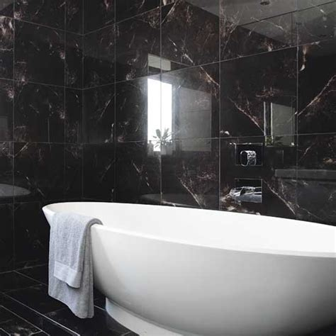 black tile bathroom 32 black bathroom wall tile ideas and pictures