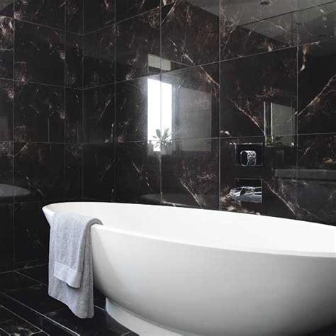black tile bathroom ideas 32 black bathroom wall tile ideas and pictures