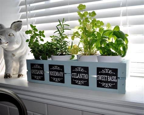 Window Herb Garden by Sassy Sanctuary Window Herb Garden With Chalkboard Labels