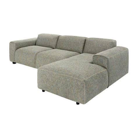 créer canapé en ligne posada canapé 3 places avec méridienne droite en tissu