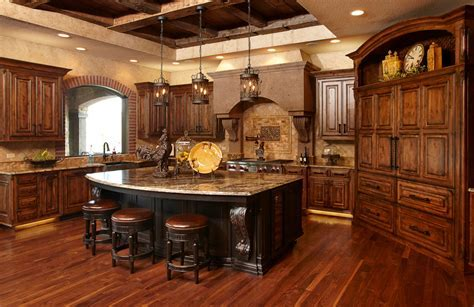 Rustic Kitchen using Knotty Alder   Galleries & Projects