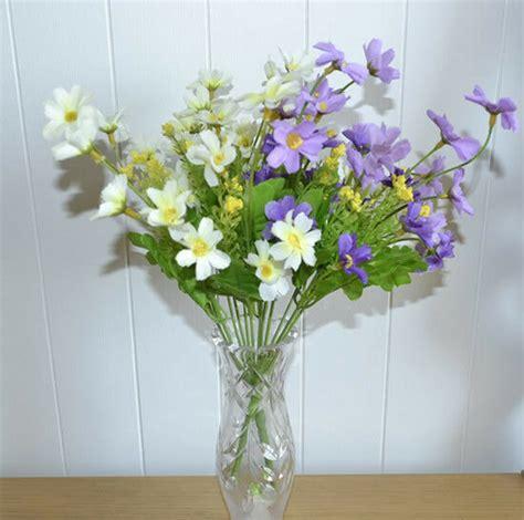 künstliche blumen kaufen 2x blumenstrau 223 k 252 nstliche blumen kunstblumen pflanzen lila wei 223 neu ebay