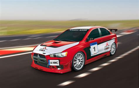 Mitsubishi Lancer Evolution Top Speed by Mitsubishi Presents Lancer Evolution X Race Car Top Speed