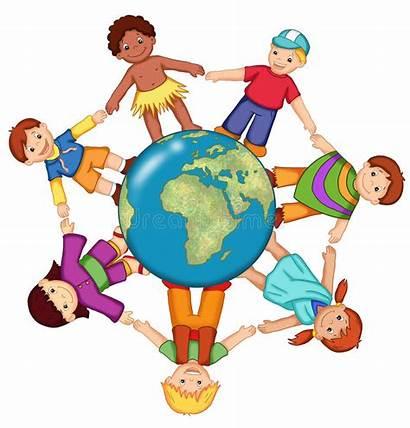 Children Clipart Brotherhood Clip Diversity Peace Illustration