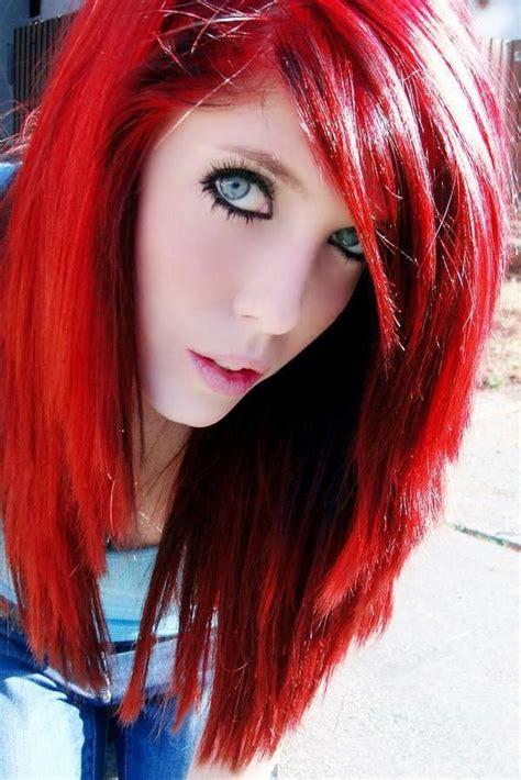 manic panic pillarbox red hair colar  cut style