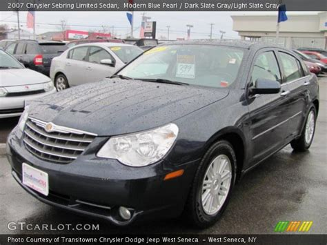 2007 Chrysler Sebring Limited by Modern Blue Pearl 2007 Chrysler Sebring Limited Sedan