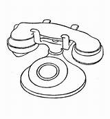 Telephone Coloring Pages Phone Printable Radio Electronics Drawing Electronic Booth Technology Pdf Tablets sketch template