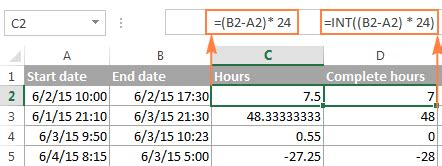 calculate time excel time difference add subtract sum times