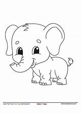 Coloring Elephant Cartoon Colouring Worksheet Template Letter Dory Kidzezone Pdf Fun Niobrarachalk sketch template