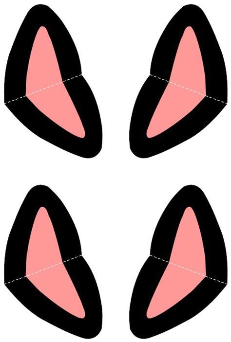 printable black cat ears