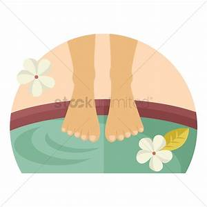 Foot spa Vector Image - 1309348 | StockUnlimited